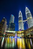 KLCC - Δίδυμοι πύργοι Petronas Στοκ Φωτογραφία