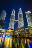 KLCC - Δίδυμοι πύργοι Petronas Στοκ εικόνα με δικαίωμα ελεύθερης χρήσης