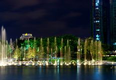 klcc Куала Лумпур фонтана Стоковое Фото