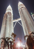 KLCC. Kuala lumpur convention centre twin tower in night scene Royalty Free Stock Images