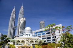 KLCC Mosque. A modern designed mosque located at the Kuala Lumpur City Centre, Malaysia Stock Image