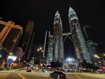 KLCC Night Scene 2019 stock images