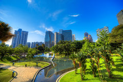 KLCC-park in Kuala Lumpur Stock Afbeelding