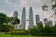 KLCC Park and Petronas Twin Towers. Kuala Lumpur. Malaysia Stock Image