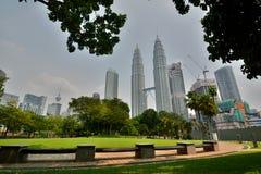 KLCC Park and Petronas Twin Towers. Kuala Lumpur. Malaysia Royalty Free Stock Photography