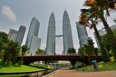 KLCC Park and Petronas Twin Towers. Kuala Lumpur. Malaysia Stock Images