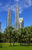 KLCC Petronas Towers Royalty Free Stock Photography