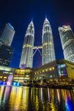 KLCC - Petronas tvillingbroder Royaltyfri Bild