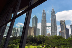 KLCC Petronas Twin Tower building Stock Image