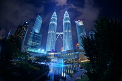 KLCC. Scenic view of KLCC from the park area, non-edited Royalty Free Stock Photos