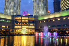 KLCC Shopping Mall at night in Kuala Lumpur, Malaysia.  Royalty Free Stock Photography