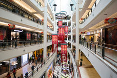 KLCC Suria Shopping Mall Kuala Lumpur Malaysia. Kuala Lumpur, Malaysia - January 27, 2017: Interior of Suria KLCC a shopping mall located in the world famous Royalty Free Stock Photo
