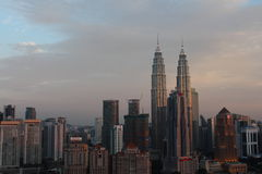KLCC tower the famous building icon in Kuala Lumpur Malaysia Stock Photo