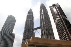 KLCC towers Royalty Free Stock Photos