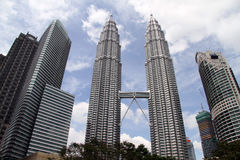 KLCC towers Royalty Free Stock Photography