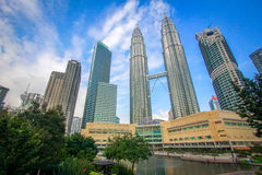 KLCC twin towers Malaysia Royalty Free Stock Image