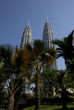 KLCC Twins towers. Twins towers in Malaysia at day time Stock Photography