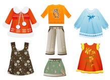 Kläder för flickor Royaltyfri Fotografi