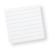 Kleber gezeichnetes Papier (mit Ausschnittspfad) Lizenzfreie Stockfotografie