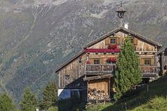 Kleblealm in valle di Oetztal Fotografie Stock Libere da Diritti