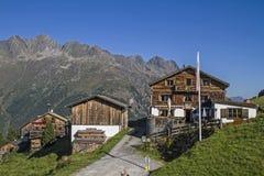 Kleblealm in valle di Oetztal Fotografie Stock