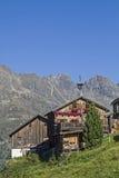 Kleblealm in valle di Oetztal Immagine Stock