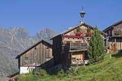 Kleblealm in valle di Oetztal Fotografia Stock Libera da Diritti