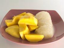 Klebriger Reis der Mangofrucht Lizenzfreie Stockfotografie