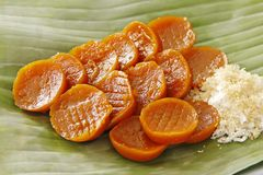 Klebriger Reis-Kuchen Stockfotografie