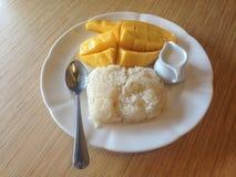 Klebriger Reis Mango Whit Lizenzfreies Stockfoto