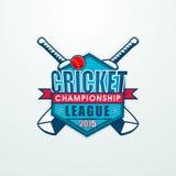Klebriges Design für Kricket-Meisterschafts-Liga 2015 Stockbilder