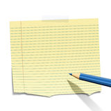 Klebriges Papier Stockbild