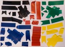Klebstreifenstücke lizenzfreies stockbild