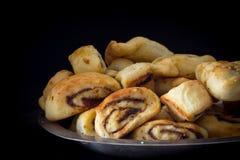 Klecha Iraqi Date Cookies Dark Background Stock Image