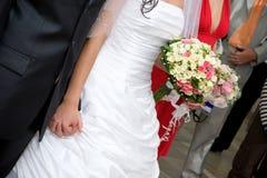 kleding en bloemboeket Stock Fotografie