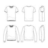 Kledingsreeks van mannelijk overhemd en sweatshirt royalty-vrije illustratie