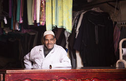 Kledingswinkel in Marrakech Royalty-vrije Stock Afbeelding
