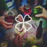 Klee-Blatt-St Patrick Tag Irland Lucky Irish Culture Conc Lizenzfreies Stockfoto