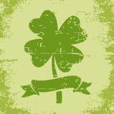 Klee mit vier Blättern in der grunge Art Stockfoto