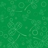 Klee verlässt Hintergrund Tagesshamrocks und -rosen Str Nahtloses Muster Vektor Stockbild
