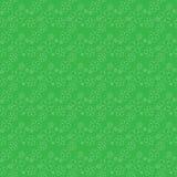 Klee verlässt Hintergrund Tagesshamrocks und -rosen Str Nahtloses Muster Vektor Lizenzfreie Stockbilder