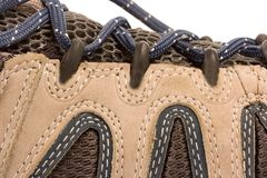 Kleedt wandelingslaarzen of schoenen Royalty-vrije Stock Foto's