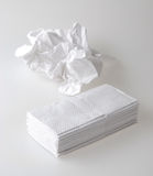 Kleenex. Paper kleenex isölated on white Royalty Free Stock Image