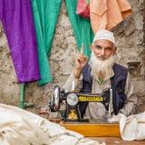 Kleermaker in Leh Royalty-vrije Stock Afbeelding