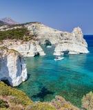 Kleftiko, νησί της Μήλου, Κυκλάδες, Ελλάδα Στοκ φωτογραφία με δικαίωμα ελεύθερης χρήσης