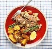 Kleftiko meal high angle Stock Photo