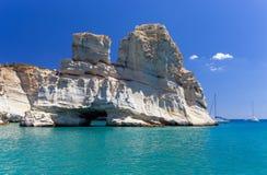 Kleftiko, Milos île, Cyclades, Grèce Photographie stock