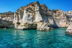 Kleftiko - pirates bay, Milos island, Cyclades Stock Photography