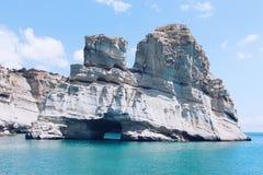 Kleftikoholen, Milos Island, Griekenland royalty-vrije stock foto's