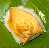 Kleiści ryż z odparowanym custard Obraz Royalty Free